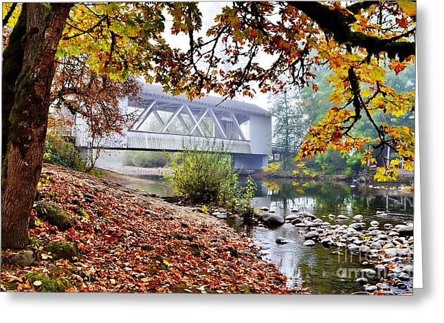 Larwood Covered Bridge Greeting Card