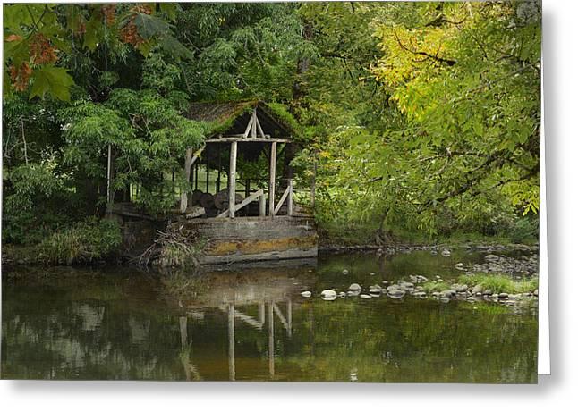 Larwood Covered Bridge Park Greeting Card