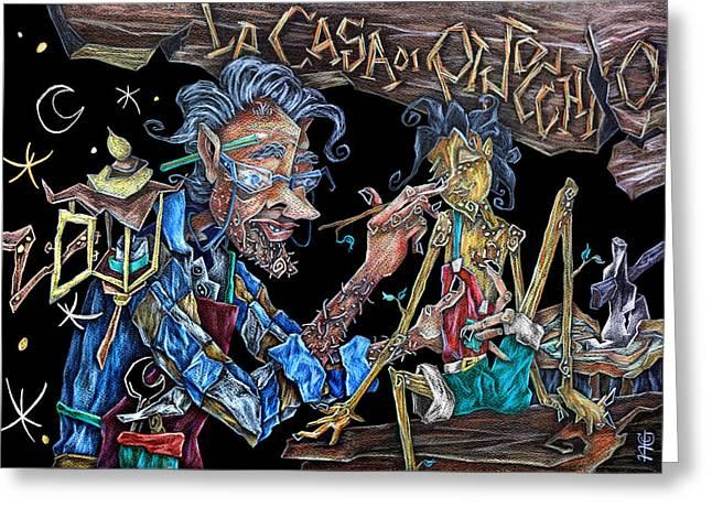 Las Aventuras De Pinocho Y Gepeto - Libri Illustrati Per Bambini Greeting Card