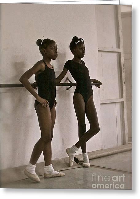 Las Bailarinas Greeting Card by Maureen J Haldeman