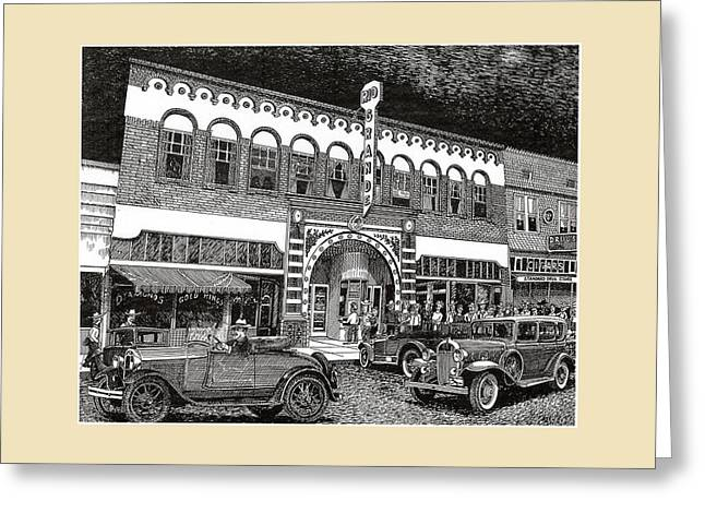 Las Cruces New Mexico 1935 Greeting Card by Jack Pumphrey