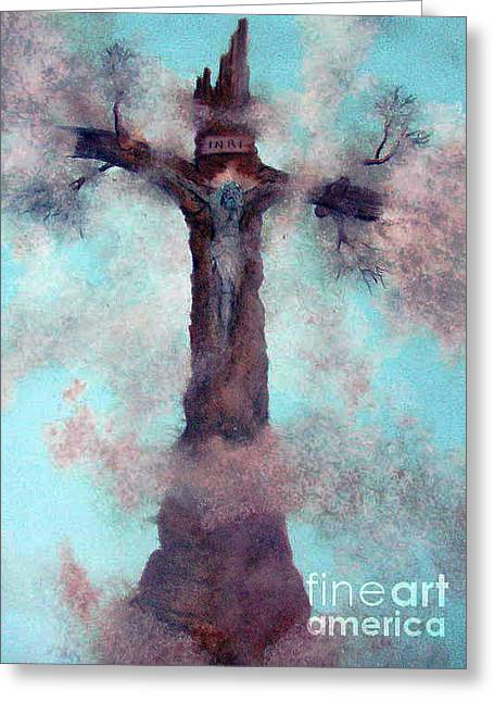 Las Cruces New Mexico Art Paintings Greeting Card by Alberto Thirion