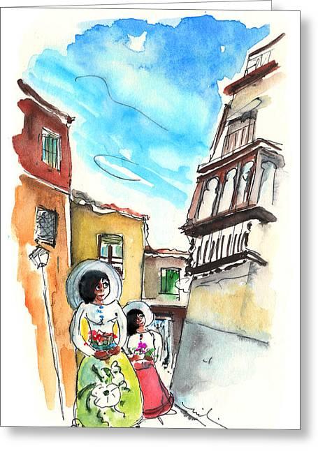 Las Damas De Toledo Greeting Card