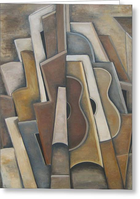 Las Guitarras Greeting Card by Trish Toro