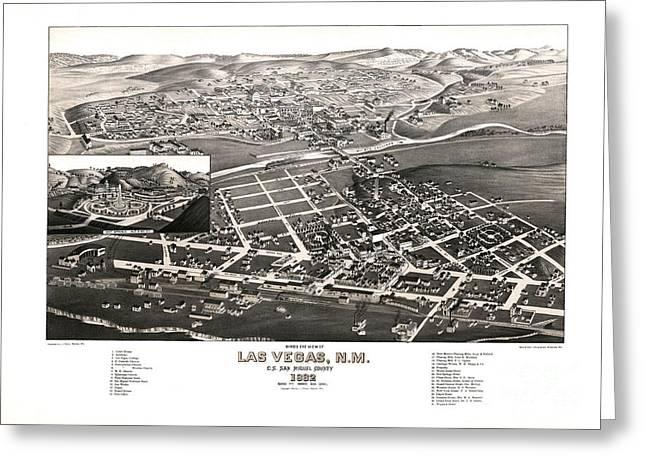 Las Vegas - New Mexico - 1882 Greeting Card