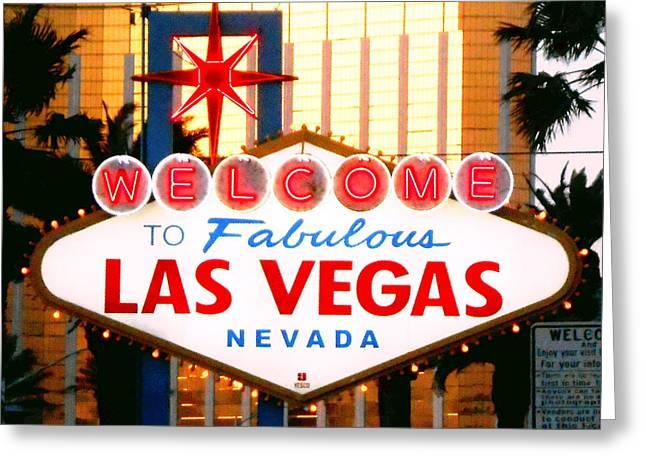 Las Vegas At Night Greeting Card