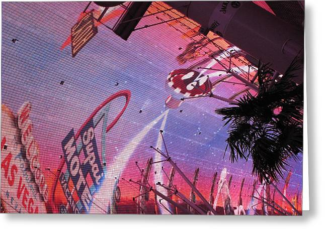 Las Vegas - Fremont Street Experience - 121212 Greeting Card by DC Photographer