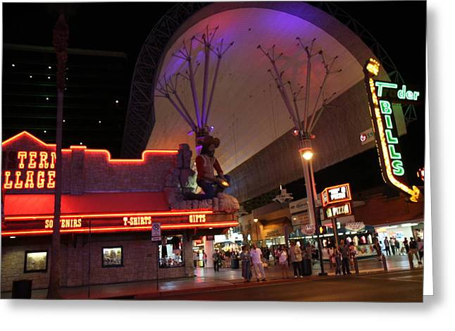 Las Vegas - Fremont Street Experience - 121222 Greeting Card by DC Photographer