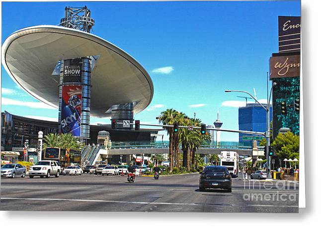 Las Vegas Greeting Card by Gregory Dyer