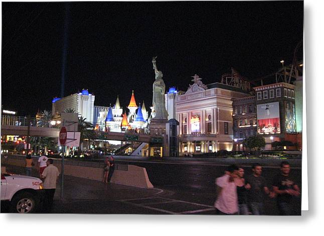 Las Vegas - New York New York Casino - 12129 Greeting Card by DC Photographer