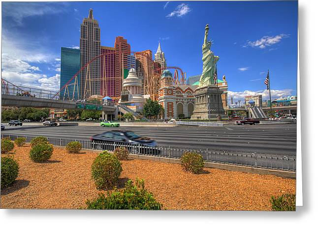 Las Vegas New York New York Greeting Card