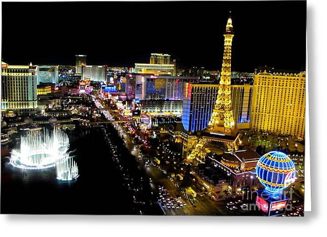 Las Vegas Night Life Greeting Card by Kip Krause