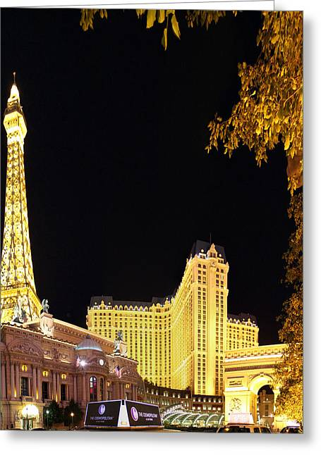 Las Vegas - Paris Casino - 01132 Greeting Card by DC Photographer