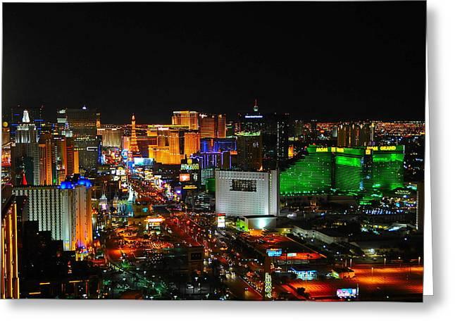 Las Vegas Strip At Night Greeting Card by Amanda Miles