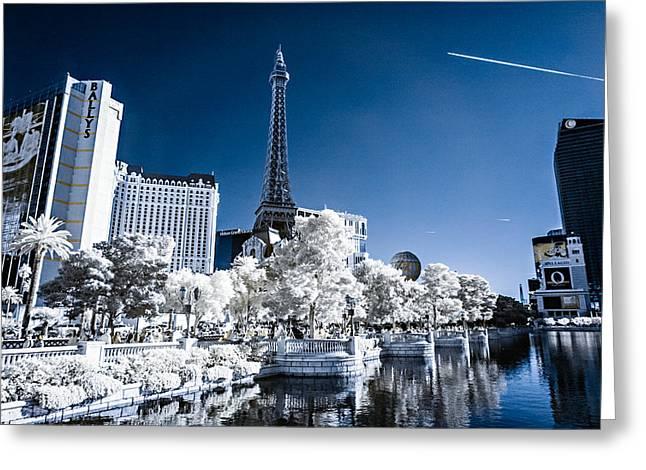 Las Vegas Strip In Infrared 2 Greeting Card