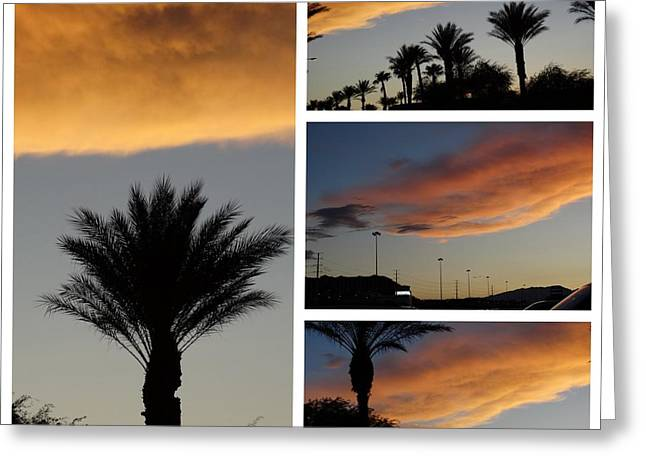 Las Vegas Sunset Greeting Card