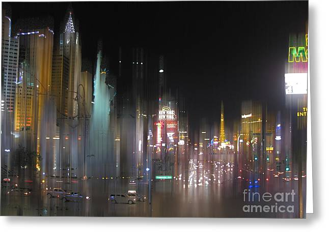 Las Vegas Surreal 2 Greeting Card by Rod Jones