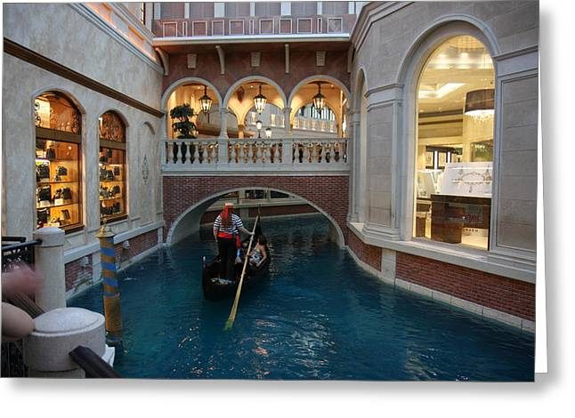 Las Vegas - Venetian Casino - 121215 Greeting Card by DC Photographer
