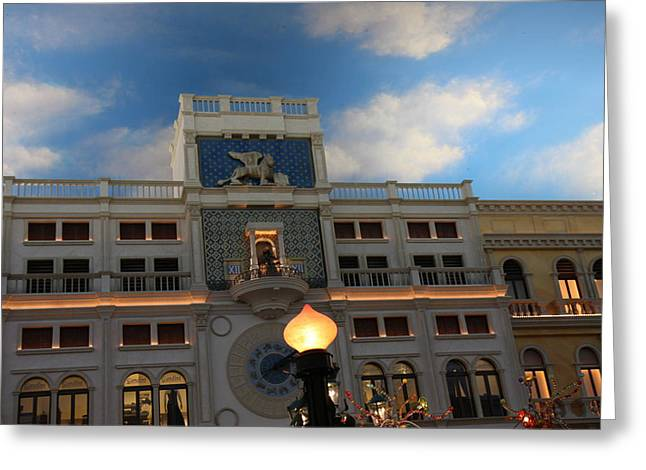 Las Vegas - Venetian Casino - 121225 Greeting Card by DC Photographer