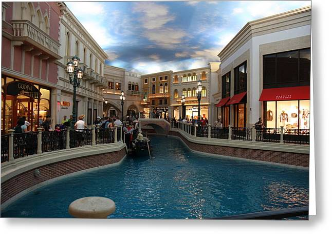 Las Vegas - Venetian Casino - 121229 Greeting Card