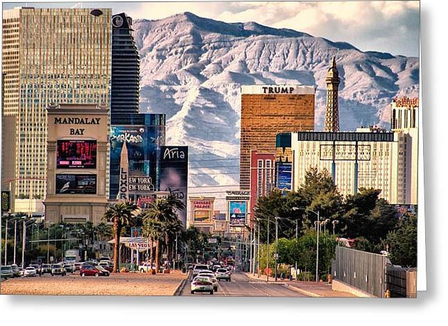 Las Vegas Nevada Greeting Card by Michael Rogers