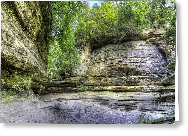 Lasalle Canyon At Starved Rock Greeting Card by Twenty Two North Photography