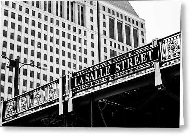 Lasalle Street Bridge Greeting Card