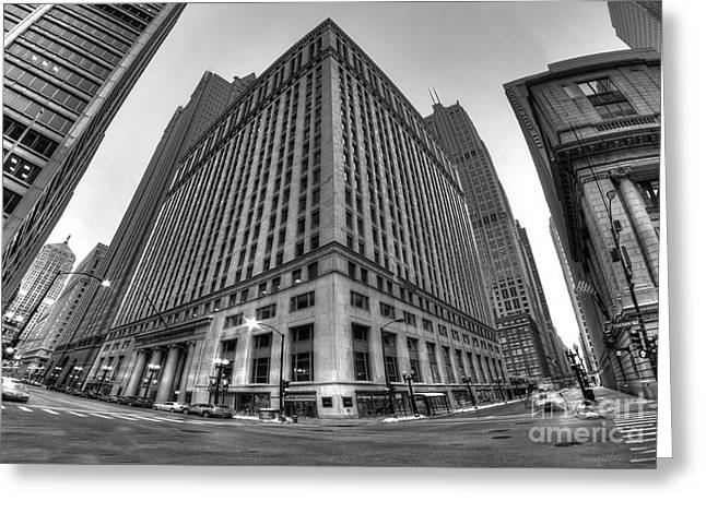 Lasalle Street In Chicago Greeting Card by Twenty Two North Photography
