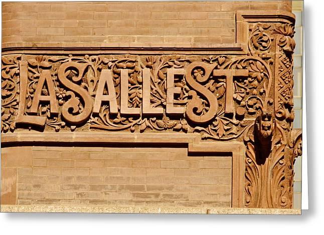 Lasalle Street Sign Greeting Card by John Babis