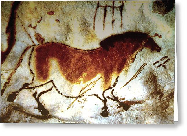 Lascaux Horse - Version 2 Greeting Card