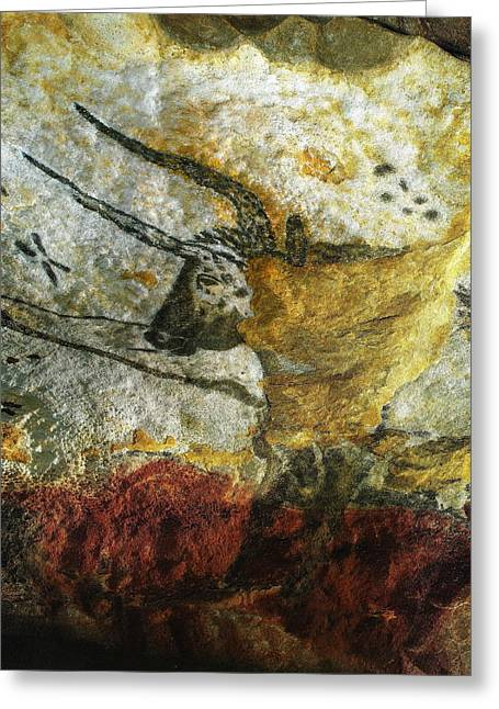 Lascaux II Number 3 - Vertical Greeting Card
