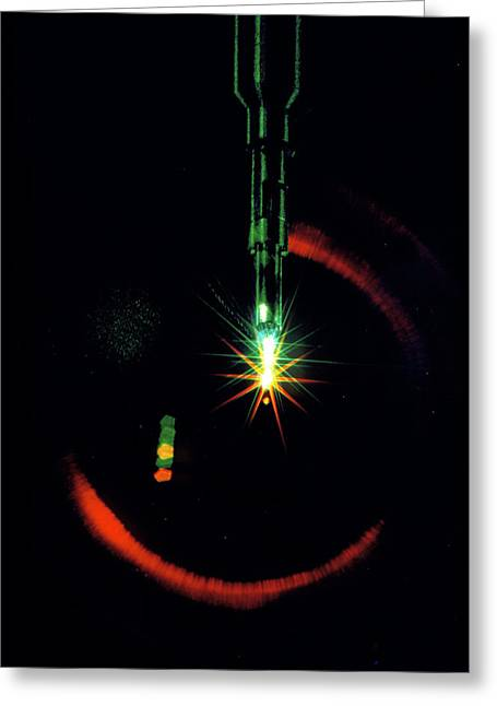 Laser-initiated Fusion Reaction In Test Chamber Greeting Card