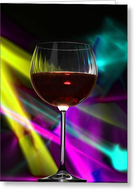 Laser Wine Greeting Card by Dennis James