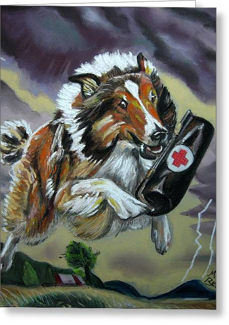 Lassie Greeting Card