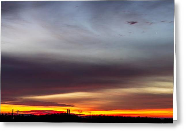 Last 2012 Sunrise Panoramic Greeting Card
