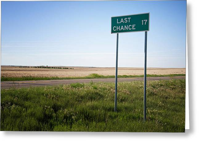 Last Chance Colorado Greeting Card by Mary Lee Dereske