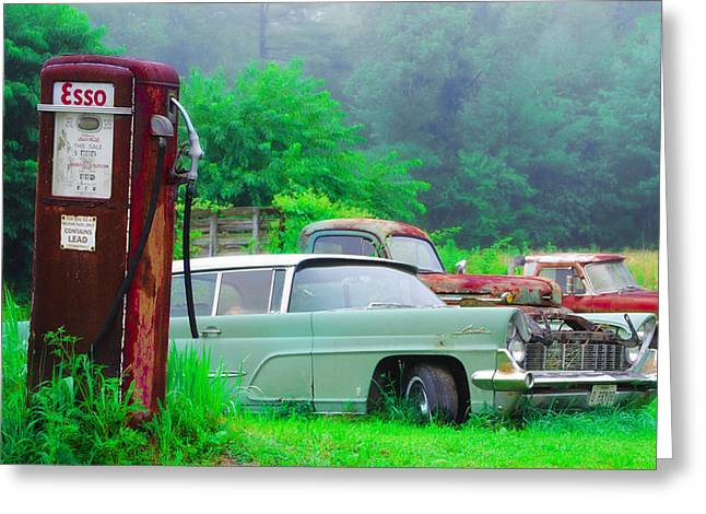 Last Chance For Gas Greeting Card by Bill Cannon