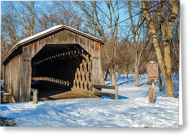 Last Covered Bridge Greeting Card by Susan  McMenamin
