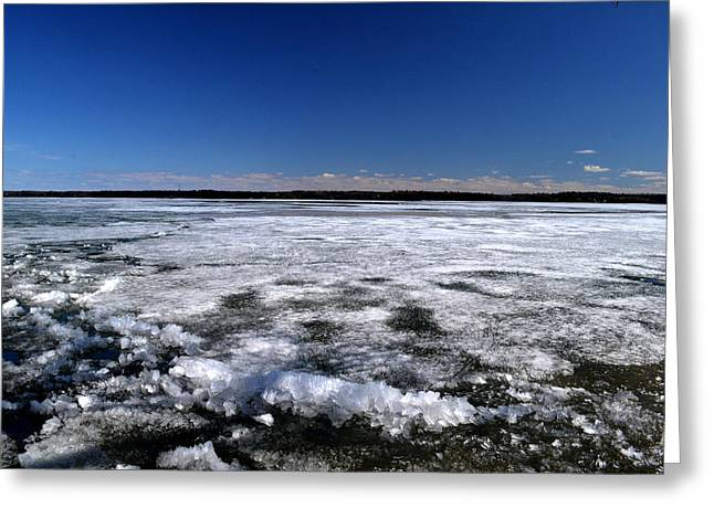 Last Day Of Ice On The Lake 3 Greeting Card by Lyle Crump