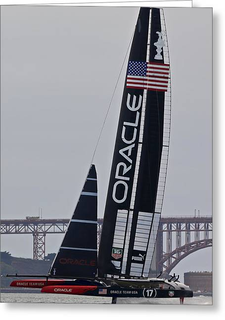 America's Cup San Francisco Greeting Card