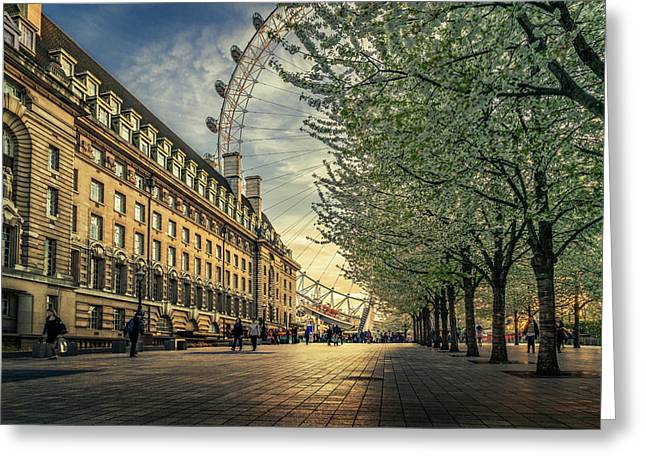Last Daylights At The London Eye Greeting Card