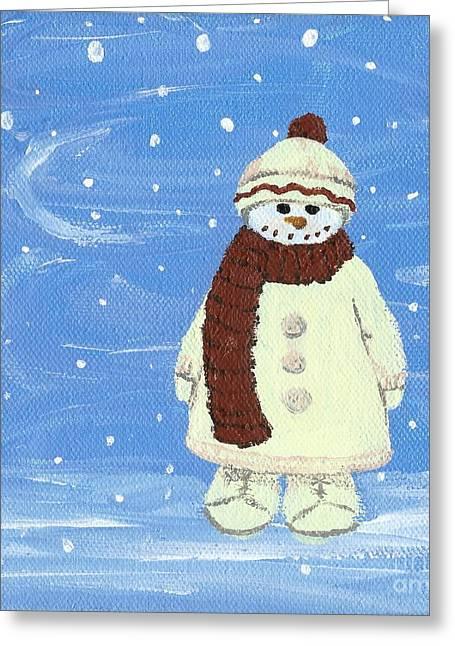 Last Decoration Snowman Greeting Card by Lynn Babineau