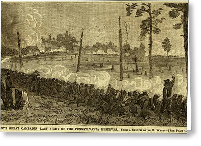 Last Fight Of The Pennsylvania Reserves Greeting Card by Quint Lox