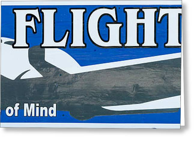 Last Flight Out A Key West State Of Mind - Panoramic Greeting Card