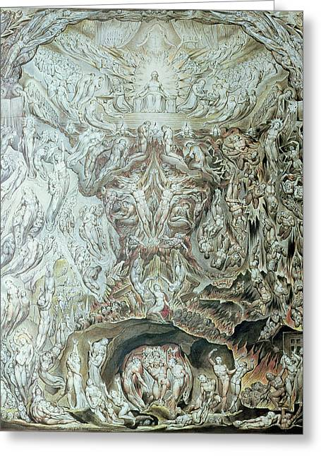 Last Judgement Wc Greeting Card by William Blake