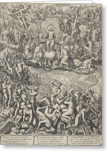Last Judgment, Barbara Van Den Broeck, Hendrick Hondius Greeting Card
