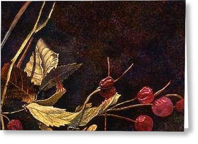 Last Leaves Greeting Card by Wendy Hill