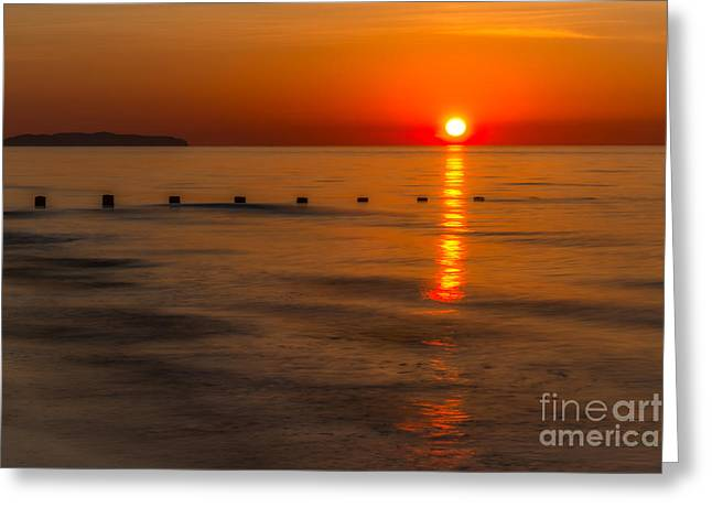 Last Light Greeting Card by Adrian Evans
