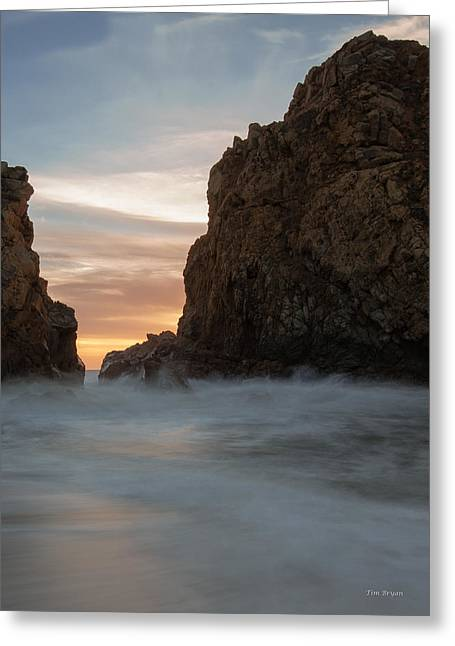 Last Light At Big Sur Greeting Card by Tim Bryan