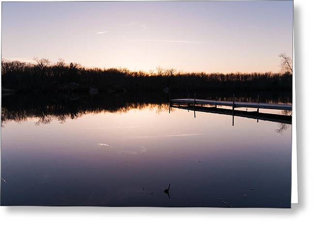 Last Light At Cleveland Pond Greeting Card